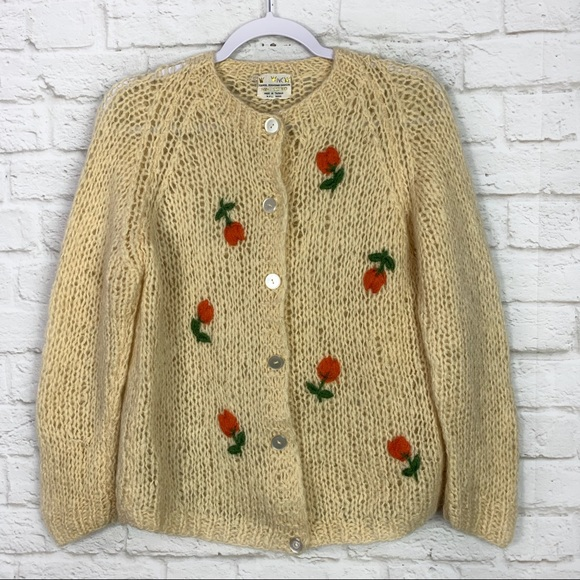 lacy sweater Oversized mohair wool hand knit sweater for women Long sleeve outwear Cottagecore sweater